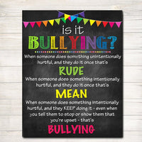 Anti Bully Poster, Classroom Decor, Counselor Office Decor Poster, Educational Classroom Decorations Bully Prevention Poster, Counselor Gift