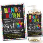 EDITABLE Soap Label Tags, End of School Year Teacher Gift, INSTANT DOWNLOAD, Printable Teacher Appreciation, Hands Down Best Teacher Around