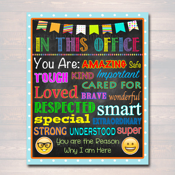 School Counselor Digital Poster, Child Therapist Decor, Counselor Office Sign INSTANT DOWNLOAD Therapist Office In this Office Printable Art