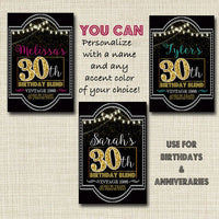 30th Birthday Custom Wine Labels, Cheers to 30 Years, 30th Birthday Gift, 30th Party, Vintage Aged to Perfection 30th Printable