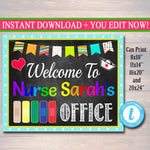Nurse's Office Door Sign - Personalized DIY Template