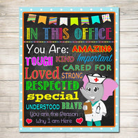 School Nurse Decor, Pediatric Nurse Decor, Nursing Sign INSTANT DOWNLOAD, Nurse Wall Art, Doctor Office Decor, In this Office Poster
