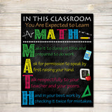 MATH Teacher Classroom Poster