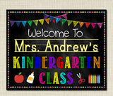 EDITABLE Teacher Classroom Door Sign, Classroom Decor, Teacher Printable, Door Sign Decoration, Custom Teacher Sign, Teacher Door Hanger