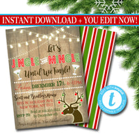 Printable Jingle & Mingle Christmas Party Invitation, Adult Holiday Party Invitation, Adult Christmas Card, Holiday Ugly Sweater Invitation