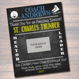 Hockey Coach Gift, Coach Award, Hockey Team Gift, End of Season Hockey Banquet, Custom Best Coach Gift, Team Ice Hockey Printable Photo Gift
