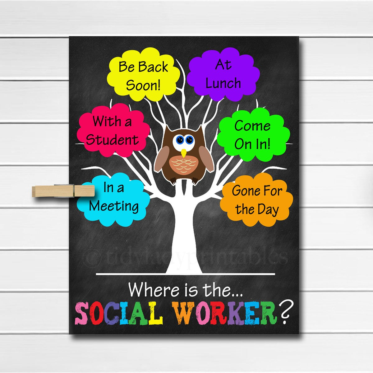 Social Worker Posters Social Worker Gifts Social Work Office Decor Tidylady Printables