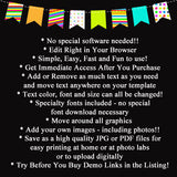 Editable Fiesta and Fun First Birthday Invitation, Chalkboard Printable Kid's First Birthday Party, Cinco De Mayo Birthday, INSTANT DOWNLOAD