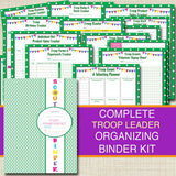 Organizing Binder Kit, INSTANT DOWNLOAD Troop Leader Forms, Meeting Planner, Printables, Camp Planner, Group Organizer, Fundraiser Forms