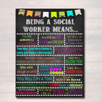 Social Worker Inspirational Art, Social Worker Gift, Social Worker Office Decor Printable Wall Art, INSTANT DOWNLOAD, Social Worker Poster