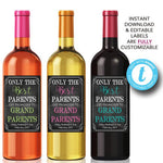 EDITABLE Best Parents Get Promoted to Grandparents, PRINTABLE Beer & Wine Label Pregnancy Announcement, You're Going to Be A Grandma/Grandpa