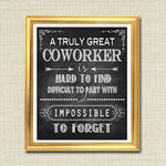 Coworker Gift, A Truly Great Mentor is Hard to Find, Impossible To Forget, Colleague Gift, Thank you, Retirement Chalkboard Printable