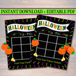 EDITABLE Tic Tac Toe Tags, INSTANT DOWNLOAD Printable Kids Treat, Hope Your Halloween is Spooktacular, Teacher Classroom Halloween Treat Bag