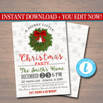 Christmas Party Invitation, Rustic Holiday Party Invitation, Farmhouse Plaid Christmas Card, Plaid Flannel Vintage Christmas Card