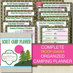 Campout Planner Pack, INSTANT DOWNLOAD Troop Leader Forms, Event Meeting Planner Brownies, Daisies, Junior, Printable Camping Trip Organizer