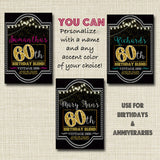 60th Birthday Custom Wine Labels, Cheers to 60 Years, 60th Anniversary Gift, 60th Party, Vintage Aged to Perfection 60th Birthday