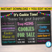 Cookie Booth Sign,  File, Troop Leader, Cookie Banner, Bake Sale Sign,  Fundraiser Printables