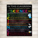 Science Classroom Rules Poster, Science Class Decor, Science Lab Printable Art, Classroom Sign, Custom Teacher Poster, Science Teacher Gifts
