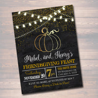 Printable Friendsgiving Party Invitation, Thanksgiving Party Invite,  Adult Thanksgiving Party, Eat Drink & Be Thankful, Friendsgiving Feast