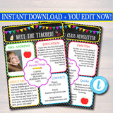 Newsletter Template Parent Communication Form - Back to School Printable