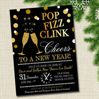 New Years Eve Party Invitation, Adult Holiday Party Invitation Adult Christmas Printable New Years Invite Template