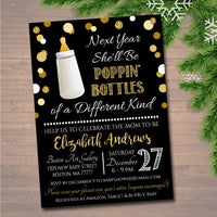 EDITABLE New Years Eve Baby Shower Invitation, Holiday Party Invitation, Baby Sprinkle, Printable New Years Invite Template INSTANT DOWNLOAD