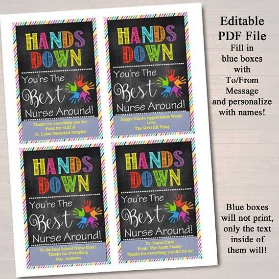 picture relating to Hands Down You're the Best Printable identify EDITABLE Cleaning soap Label Tags, Conclude of College or university Yr Nurse Reward, Instantaneous Obtain, Printable Nurse Appreciation, Arms Down Excellent Nurse About Tags