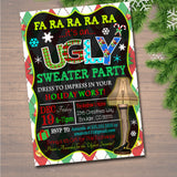 EDITABLE Ugly Sweater Party Invitation, Christmas Party Invitation, Holiday Worst Invite Adult Christmas Party, Holiday Ugly Sweater Invite