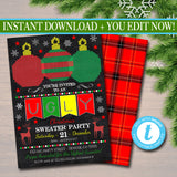 Ugly Sweater Party Invitation, Christmas Party Invitation, Holiday Worst Invite Adult Christmas Party, Holiday Ugly Sweater Invite