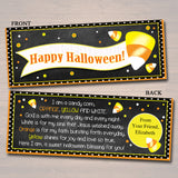 Halloween Treat Bag Toppers, Halloween Favor Tags, Religious Candy Corn Labels, Printable Trick or Treat, Kids Halloween, INSTANT DOWNLOAD