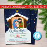 Religous Christmas Invitation, Reason for the Season, Jesus Birthday, Nativity, Church Program, , Xmas Invitation