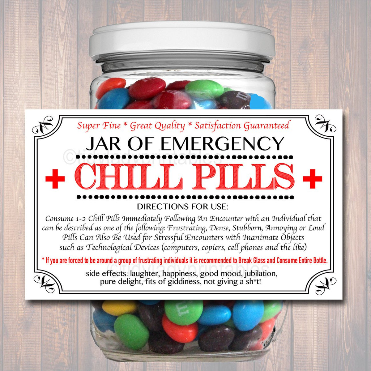 photo regarding Chill Pill Label Printable called Chill Supplements Label, Humorous Nurse Gag Present Knowledgeable Office environment Xmas Reward, Birthday Reward, Trainer, Manager Present, Cowork Reward Printable Label