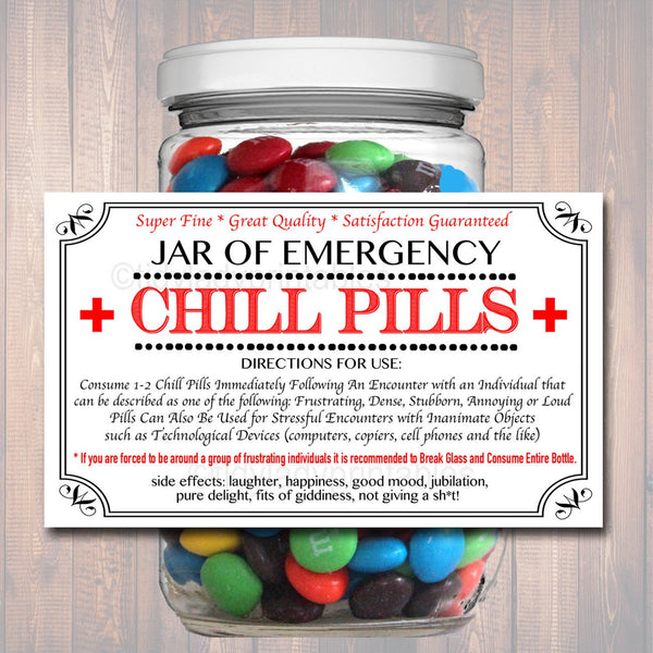 photo about Chill Pill Printable Labels identified as Chill Supplements Label, Amusing Nurse Gag Reward Knowledgeable Business Xmas Reward, Birthday Present, Trainer, Manager Present, Cowork Reward Printable Label