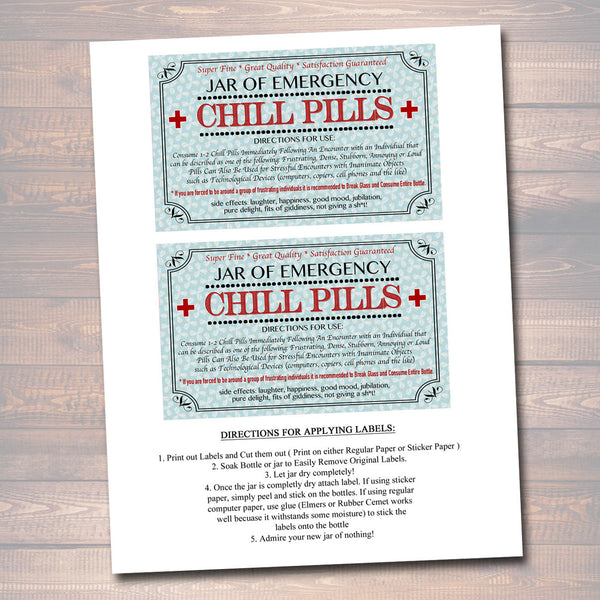 photo relating to Chill Pill Printable Labels named Chill Products Label, Amusing Nurse Gag Reward Proficient Workplace Xmas Present, Birthday Present, Trainer, Manager Reward, Cowork Present Printable Label