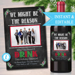 Christmas Employer Boss Wine Label , Secret Santa Coworker Appreciation Printable Wine Label Gift From Office Staff