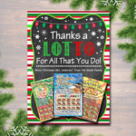 EDITABLE Christmas Thank You a Lottery Gift Card Holder, Printable Teacher Gift Xmas Coach Gift, INSTANT DOWNLOAD Nanny Babysitter Gift Card