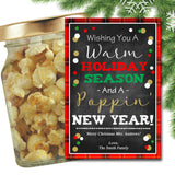 EDITABLE Christmas Popcorn Gift Tags, Secret Santa Office Staff Teacher Gift, Popcorn Tin Holiday Printable, White Elephant INSTANT DOWNLOAD