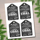 Lump Of Coal North Pole Delivery Tags, Printable Label Santa's Naughty List Stocking Stuffer Bath Bomb Soap Chocolate Favor INSTANT DOWNLOAD