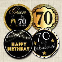 70th Birthday Cupcake Toppers PRINTABLE Cheers to Seventy Year Cupcake Decoration 70th Birthday Cake Decor 70th Party Decor INSTANT DOWNLOAD