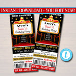 EDITABLE Red Carpet Ticket Invitation, Hollywood Movie Party Invite Glam Birthday Digital Invite, Red Carpet Party Invite INSTANT DOWNLOAD