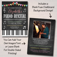 EDITABLE Piano Recital Invitation, Piano Music Performance Digital Invite, Concert Invitation, Music Party, Kid Girl Piano, INSTANT DOWNLOAD