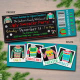 Ugly Sweater Party Invitation, Christmas Party Ticket Invite 'Tis The Season To Be Ugly Christmas Party Holiday Ugly Sweater Invite