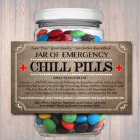 Chill Pills Label, Funny Nurse Gag Gift Professional Office Christmas Gift, Birthday Gift, Teacher, Boss Gift, Cowork Gift Printable Label
