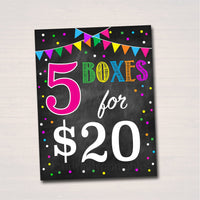 Cookie Booth Price Signs, Stop Cookies Sold Here, Printable Cookie Drop Banner, Cookie Booth Sales Poster, INSTANT DOWNLOAD Fundraiser Booth