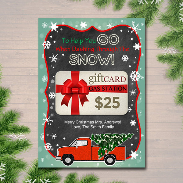 EDITABLE Christmas Gas Card Holder, Thank You Snow Much Gift Card Holder, Printable Teacher, Coach Babysitter, Nanny Gift, INSTANT DOWNLOAD