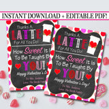 EDITABLE Valentine's Day Coffee Gift Tags, Candy Tags, Teacher Appreciation Gift, Thanks a Latte For All You Do Labels, INSTANT DOWNLOAD
