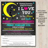 EDITABLE Daddy Daughter Dance Set School Dance Flyer Party Invitation, Starry Night Event Church Community Event, pto, pta, INSTANT DOWNLOAD
