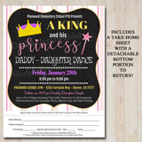 EDITABLE Daddy Daughter Dance Set School Dance Flyer Invitation King & His Princess Event Church Community Event, pto, pta, INSTANT DOWNLOAD