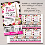 Daddy Daughter Dance Set School Dance Flyer  Invite, An Evening in Paris,  Church Community Event, pto, pta