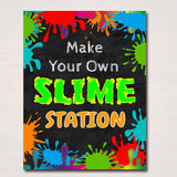 Slime Party Birthday Sign, Mad Scientist Kids Party, Make Your Own Slime Station Digital Sign, Boy's Slime Party Decor, INSTANT DOWNLOAD